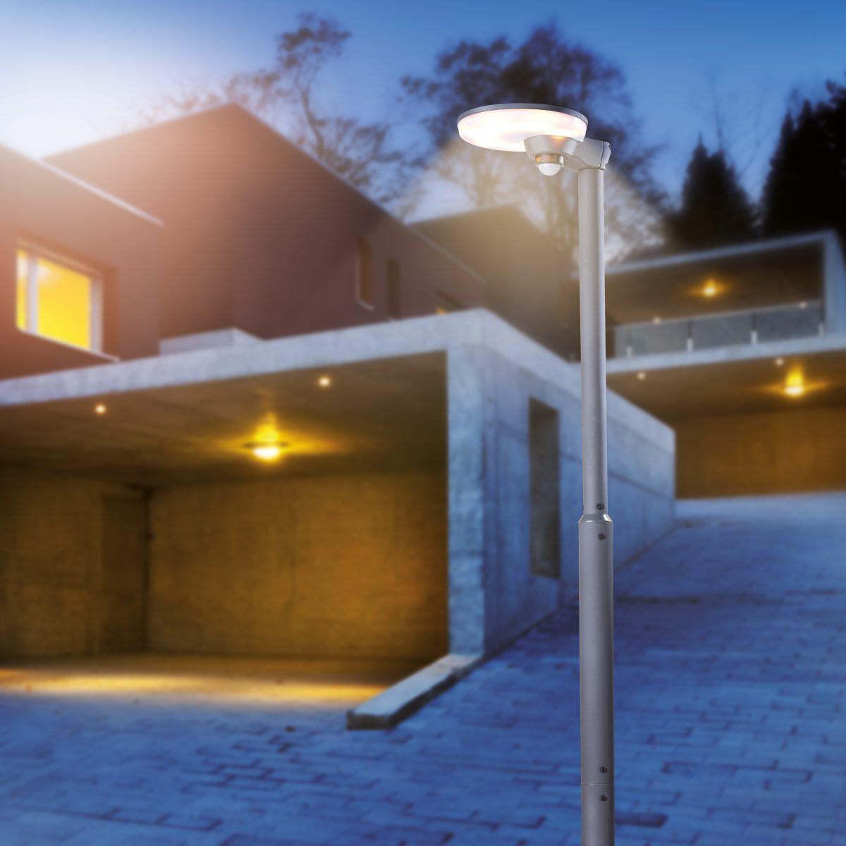Solarlaterne im Winter