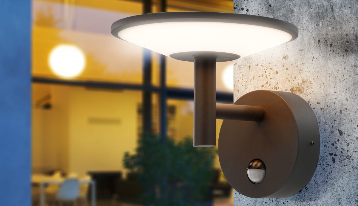 Schöne Wandleuchte LED und Solar