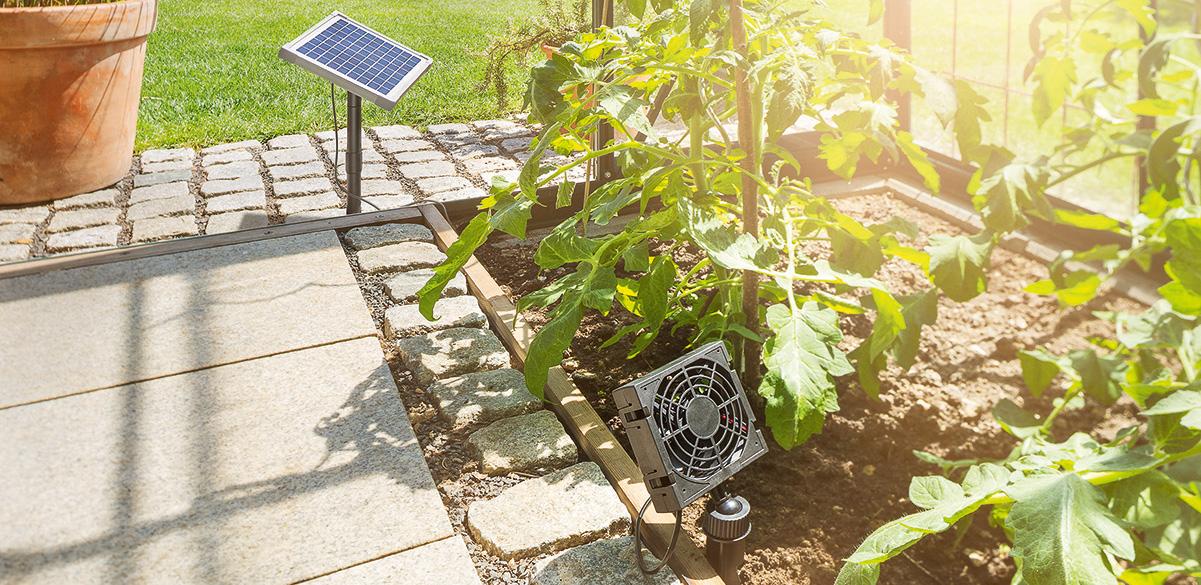 Belüftung für den Garten