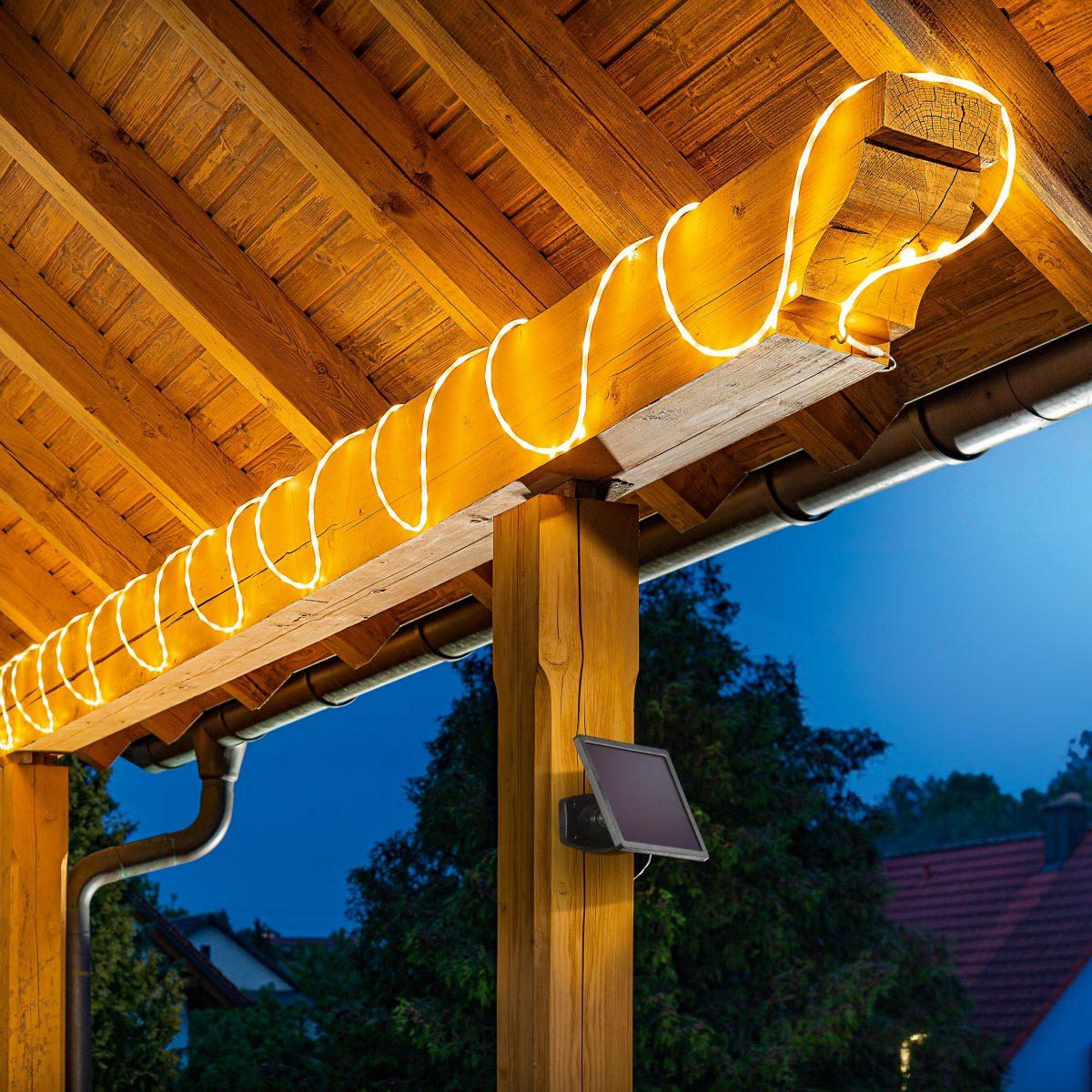 Solar Lichtschlauch als Dekoration