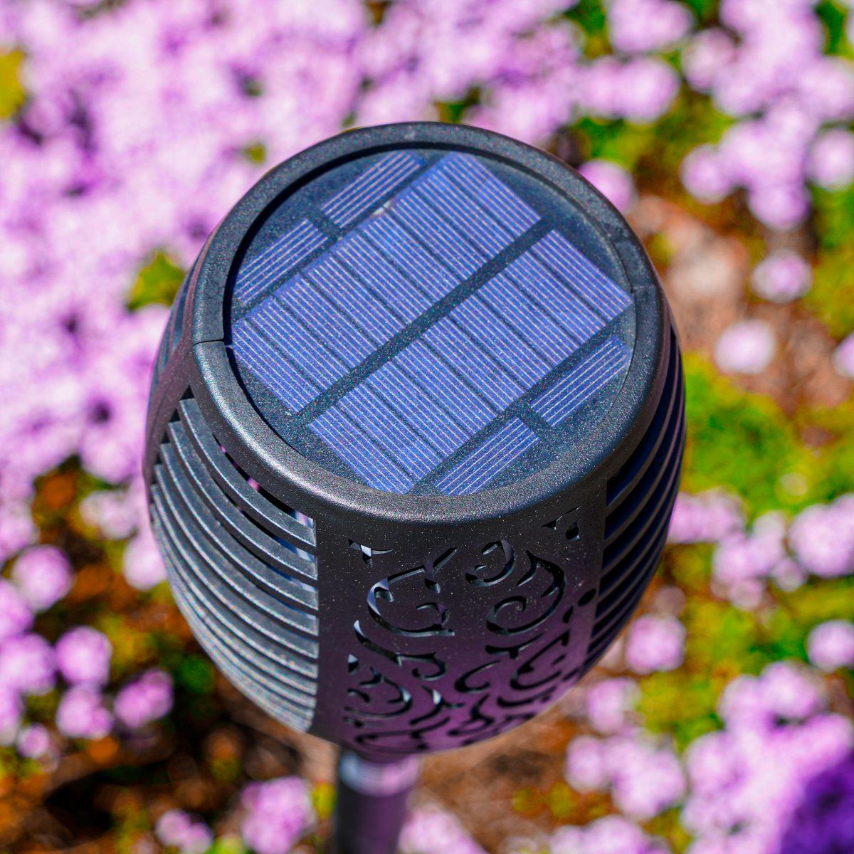 Solarleuchte im Garten