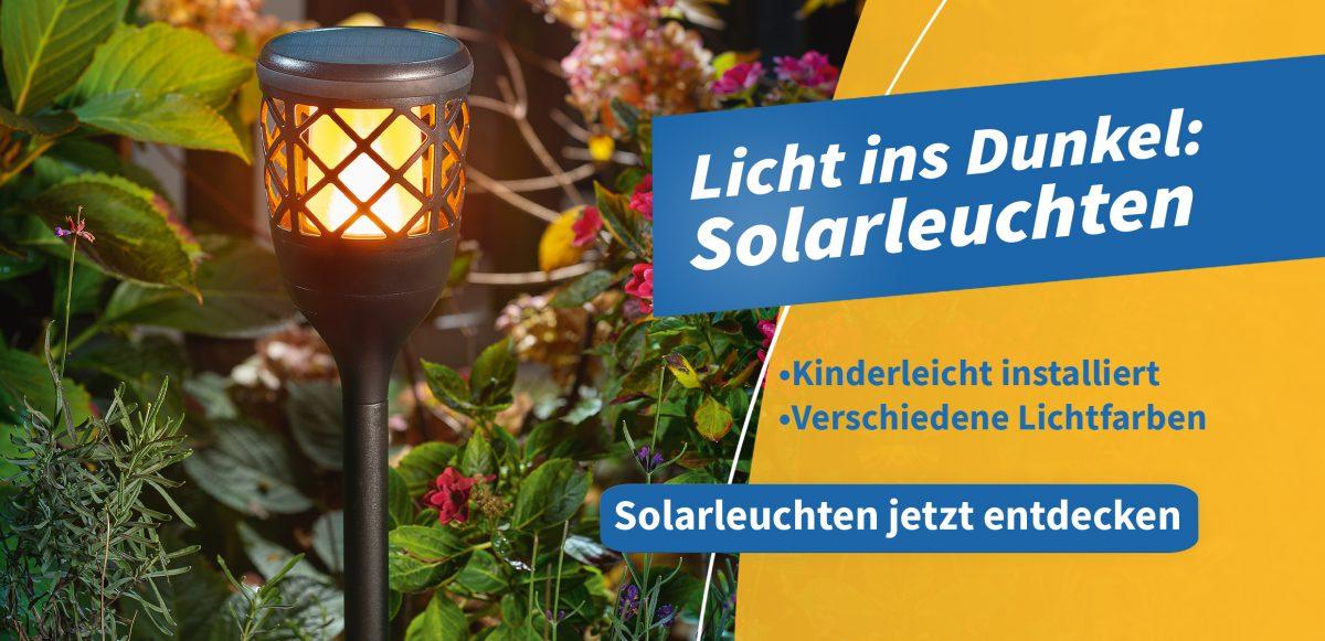 Banner für Solarleuchten