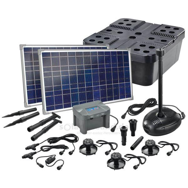 Solar Teichfilter Set Profi 1700/50 LED