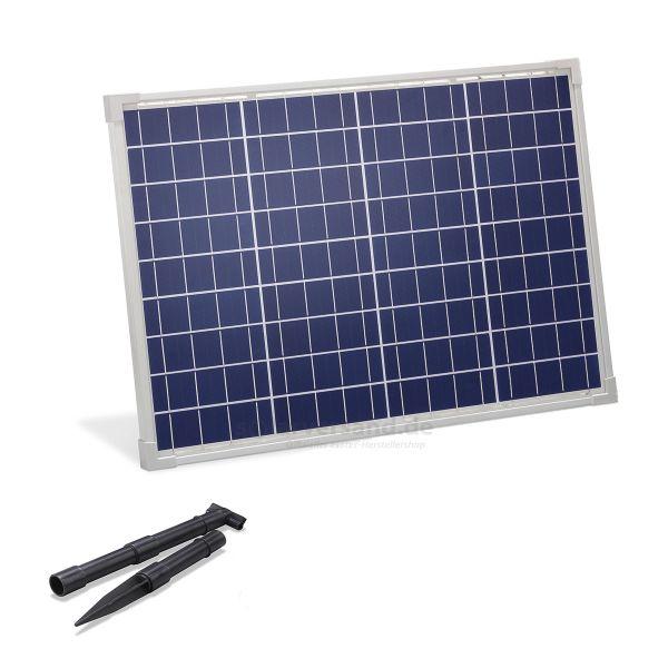 Solarmodul 50Wp 18V Stecker 2-polig groß inkl. Halterung