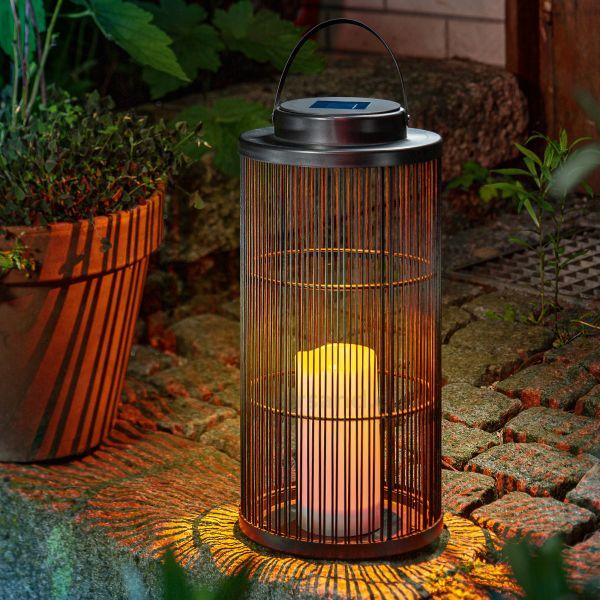 Dekorative Solarleuchte Sara-L mit Flackerlicht