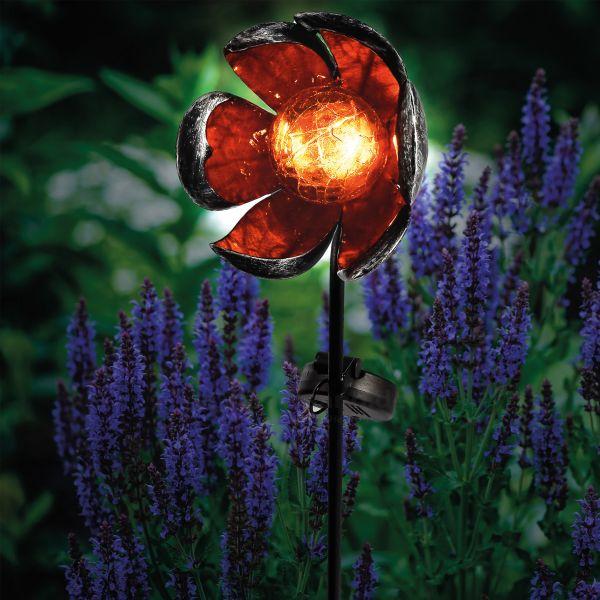Dekorativer Solar Gartenstecker Florelia