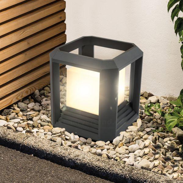 Moderne LED-Bodenleuchte Cube Light 25 cm