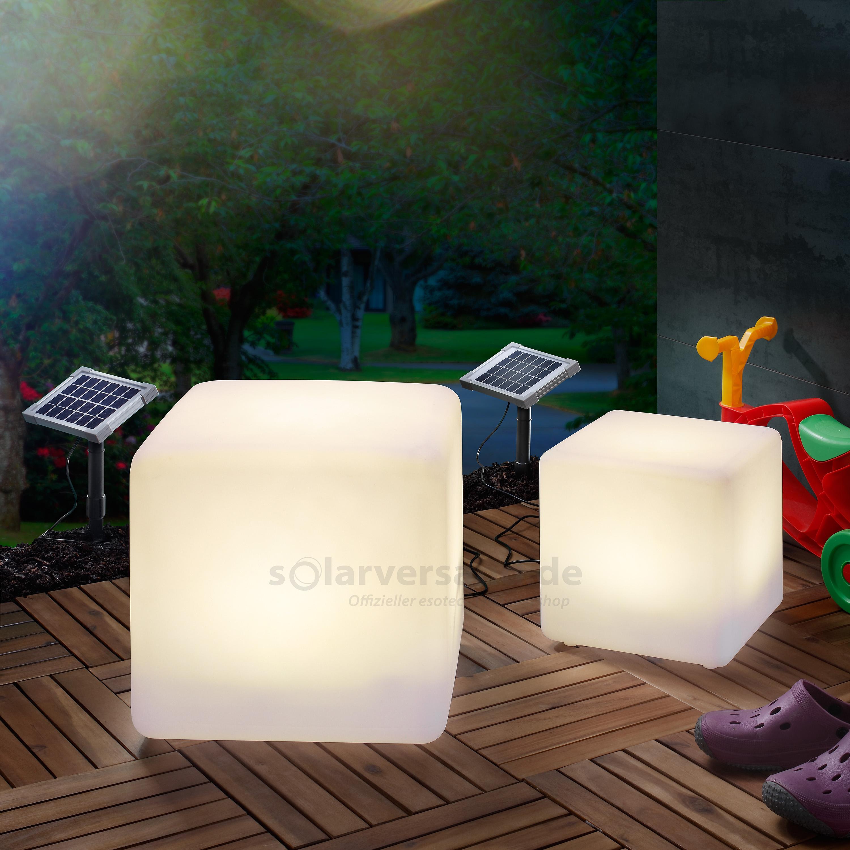 solar leuchtwürfel 2er set 30 und 40 cm | solarversand.de