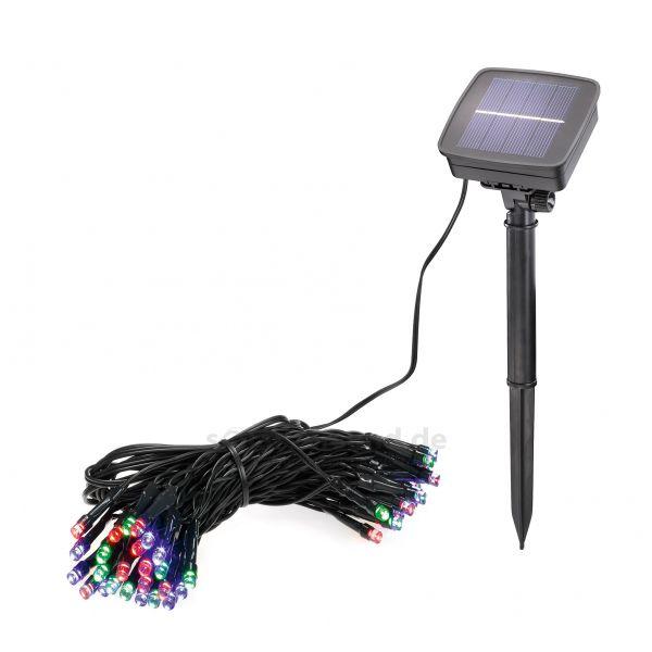 Solar Lichterkette 50 LEDs bunt
