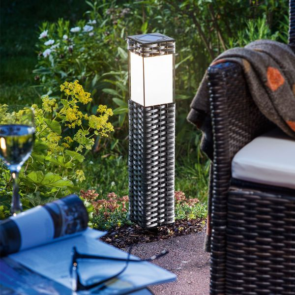 Solar standleuchte rattan - Lamparas solares para jardin ...