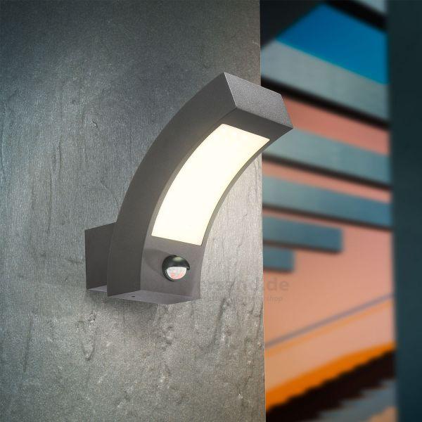 LED Außenwandleuchte Line 4000K mit Bewegungssensor
