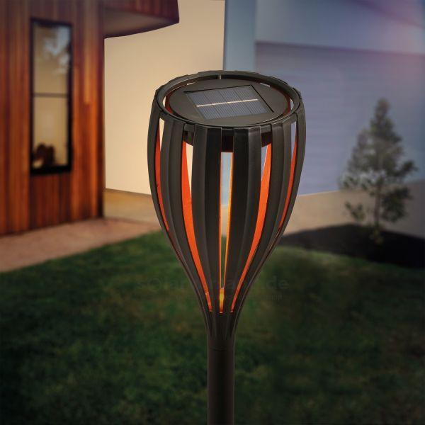 Solarbetriebene Gartenfackel Malabo
