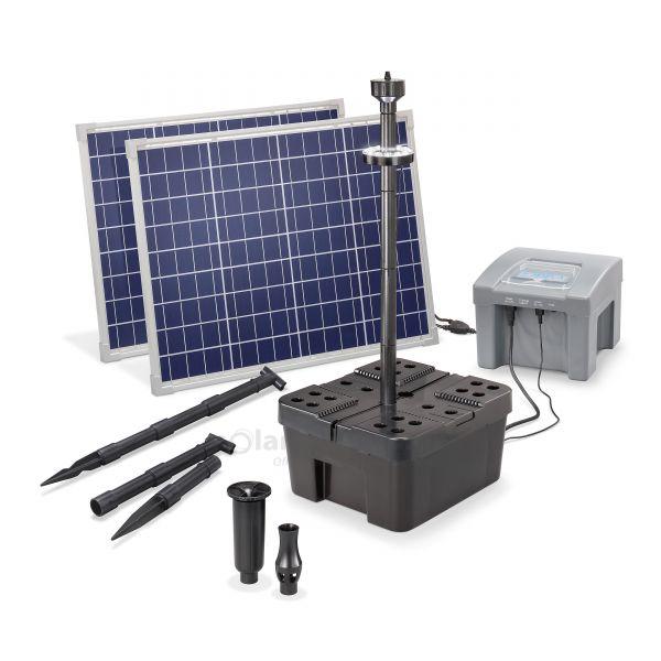 Solar Teichfilterset Profi 100/2600 LED proBatt