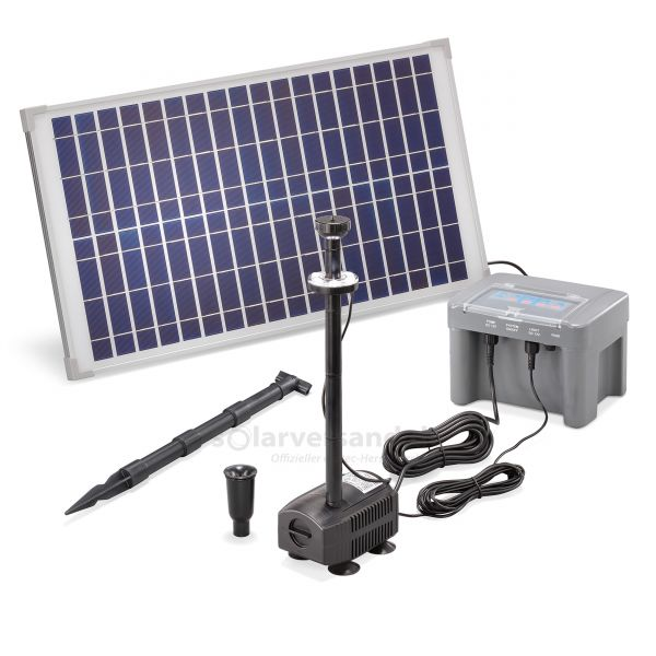 Solar Teichpumpenset 25/630 LED Professional proBatt