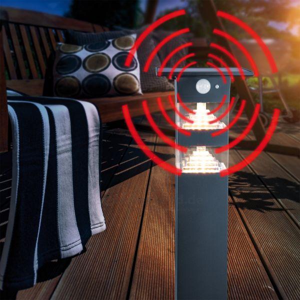 Solar LED-Sockelleuchte Tortona mit Sensor