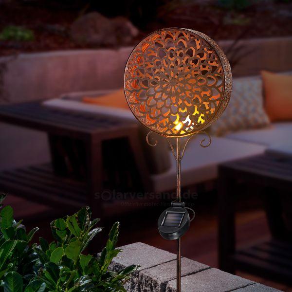 Kupferfarbener Solar Gartenstecker Ornament