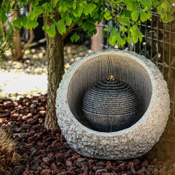 Garten-Springbrunnen RockStone 40 mit LED