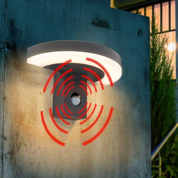 Halbrunde LED Wandleuchte StudioLine mit Bewegungsmelder