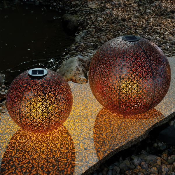 Orientalische Solarkugeln Basima 30 und 40 cm im Set