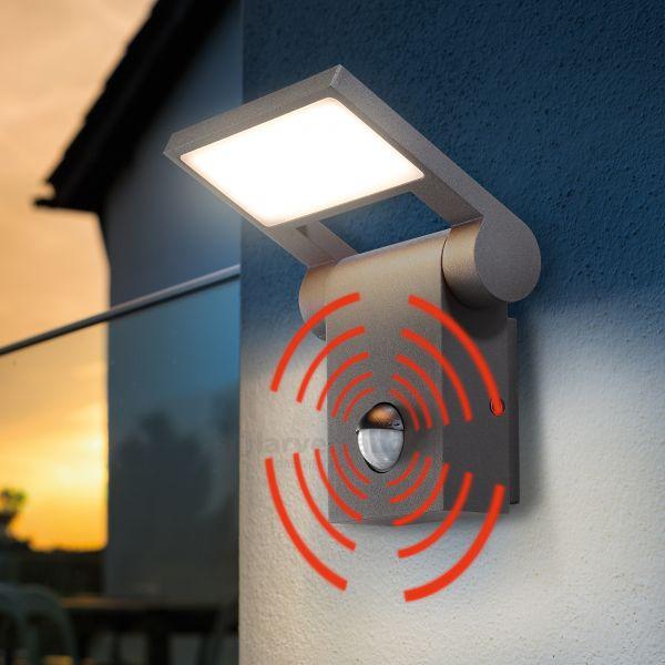 LED Außenwandleuchte FlexLine mit Bewegungssensor