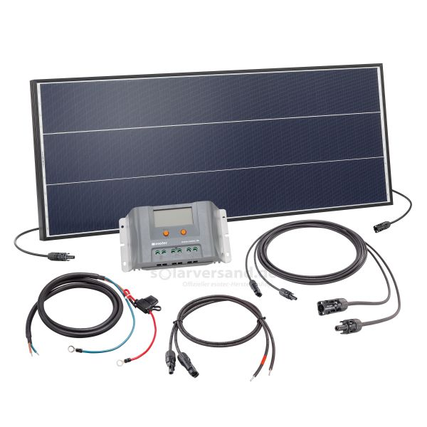 Solaranlage 75Wp 12V mit 30A Laderegler