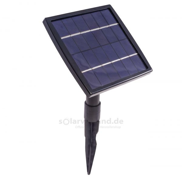Solarmodul 1,5 Wp 12 Zellen 6V DC mit Erdspieß