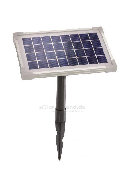 Solarmodul 3,5Wp 8V Stecker 2-polig rund inkl. Halterung