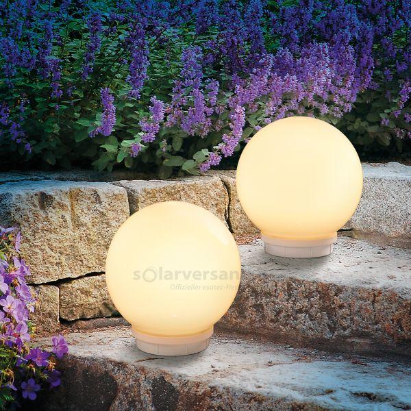 Schwimmfähiges Solar Leuchtkugelset 20 cm Multi color