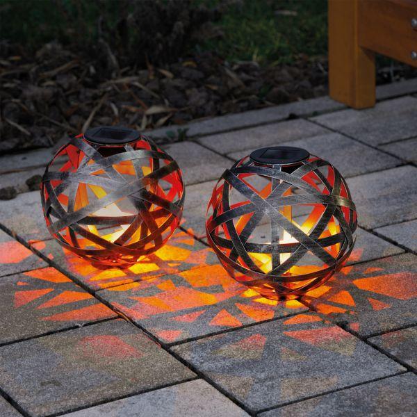 Deko-Solarkugeln Bahira 18 cm im 2er-Set