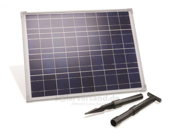 Solarmodul 35Wp 18V Stecker 2-polig groß inkl. Halterung