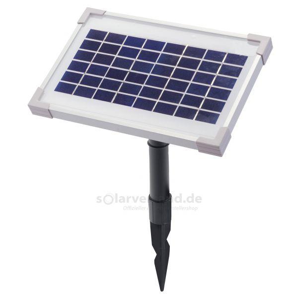 Solarmodul 3,5Wp 12V Stecker 2-polig rund inkl. Halterung