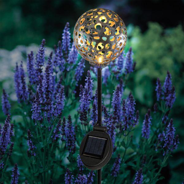 Kugelförmiger Solar Gartenstecker Amina