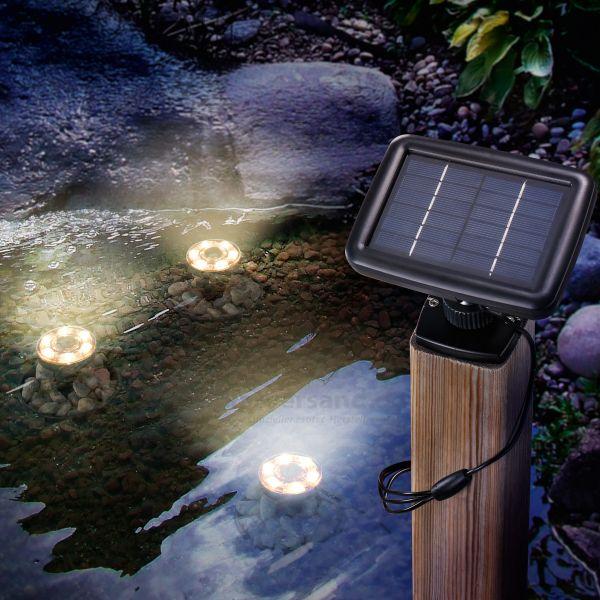 Solar Unterwasserleuchten Splash warmweiß