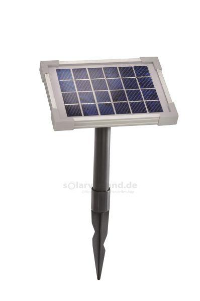 Solarmodul 2Wp 6V Stecker 2-polig rund inkl. Halterung