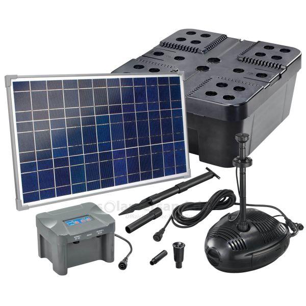 Solar Teichfilter Set Profi 1300/35 LED