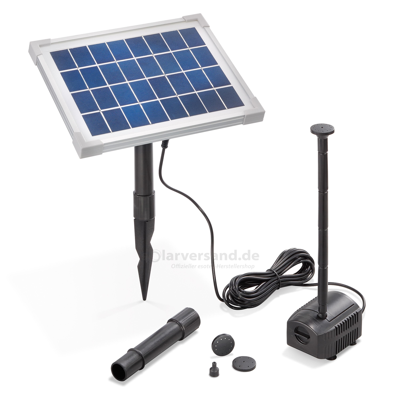 solar teichpumpenset 5 250 professional 8v pumpen mit. Black Bedroom Furniture Sets. Home Design Ideas