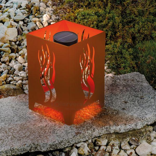 Solar Feuerstelle Ilamas mit Flammenlicht