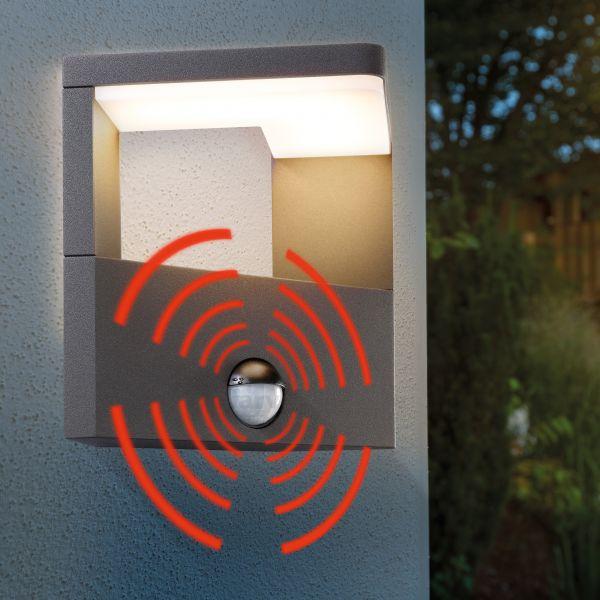 LED Außenwandleuchte DesignLine mit Bewegungssensor