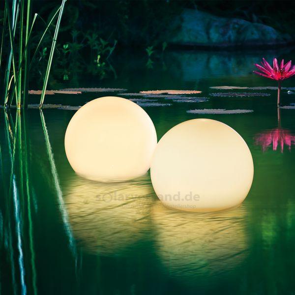Schwimmfähiges Solar Leuchtkugelset 15 cm Multi color