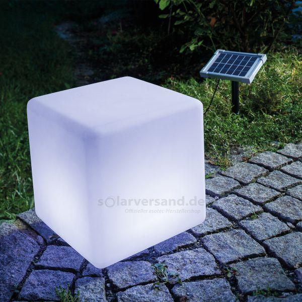 Solar Leuchtwürfel Cube 30 cm