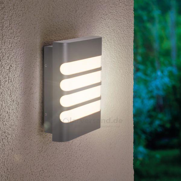 LED-Außenwandlampe Julia in grau
