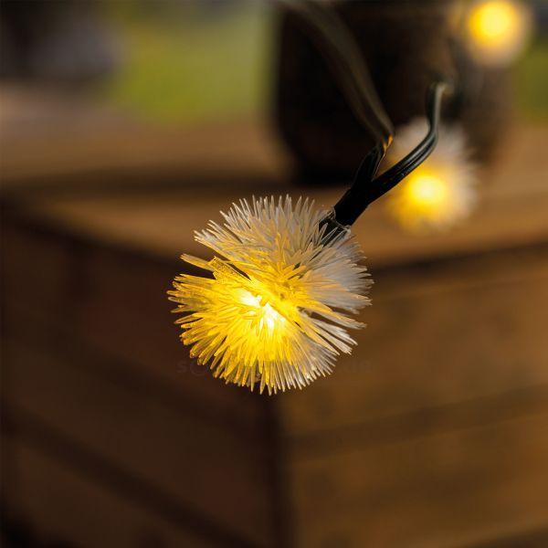 Solar Deko-Lichterkette mit 30 Pusteblumen