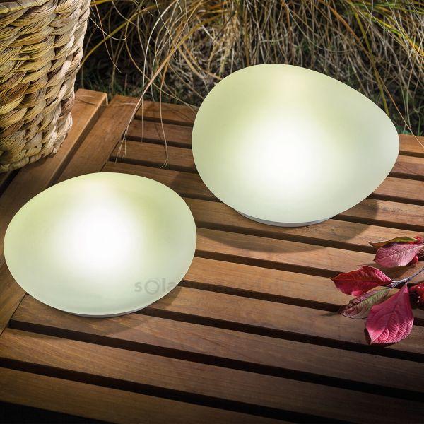 Solar leuchtsteine 2er set - Solarlampen fur den garten ...