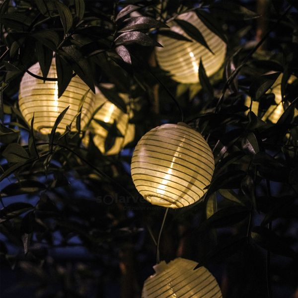 Solar Lichterkette Lampion mit 20 LEDs