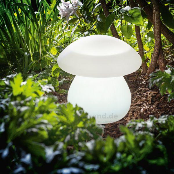 Solar LED Dekoleuchte Pilz mit 8 Lichtfarben