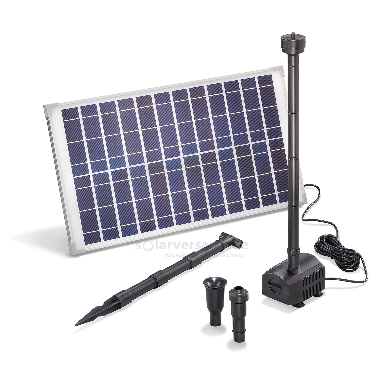 solar teichpumpenset 25 1250 professional 12v pumpen mit. Black Bedroom Furniture Sets. Home Design Ideas