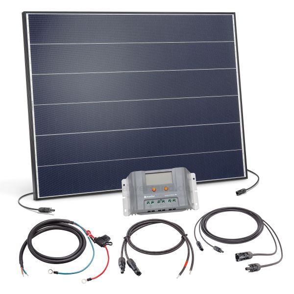 Solaranlage 150Wp 12V mit 30A Laderegler