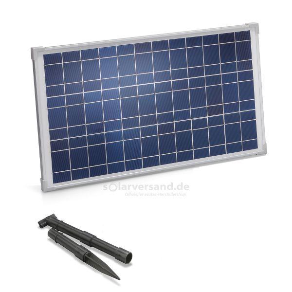 Solarmodul 25Wp 12V Stecker 2-polig klein inkl. Halterung