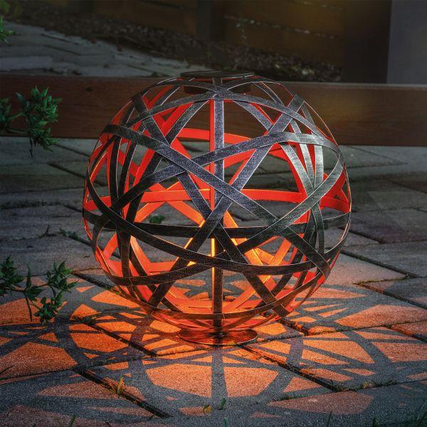 Design-Solarkugel Bahira 30 cm aus Metall
