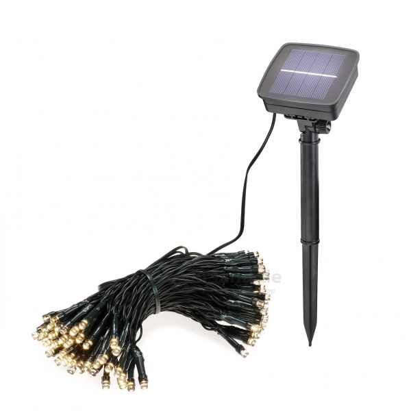Solar Lichterketten 100 LEDs versch. Farben